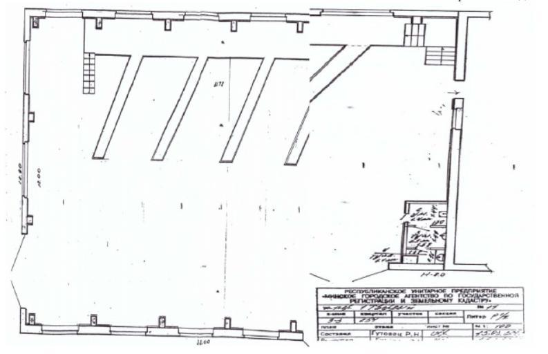 план склада 566,1 кв.м. с 2 отдельными входами