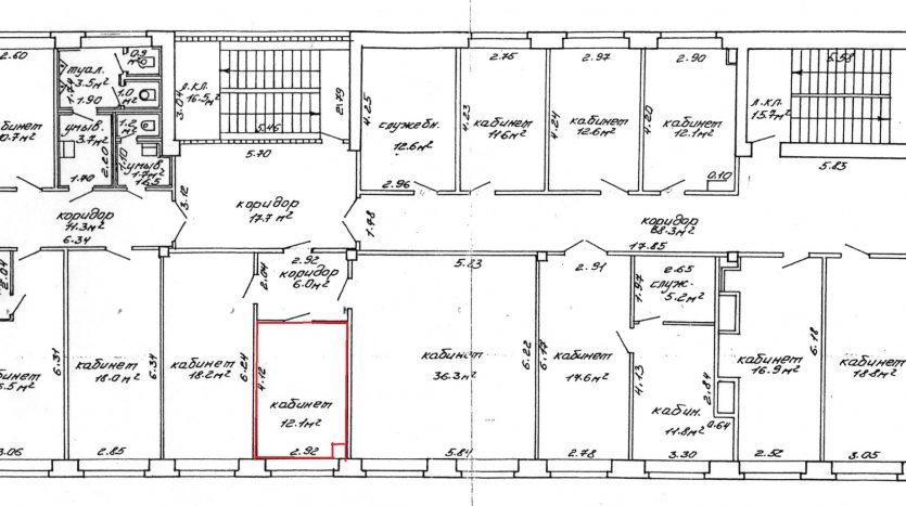 план 4 этажа для аренды офиса на Твердом в Минске
